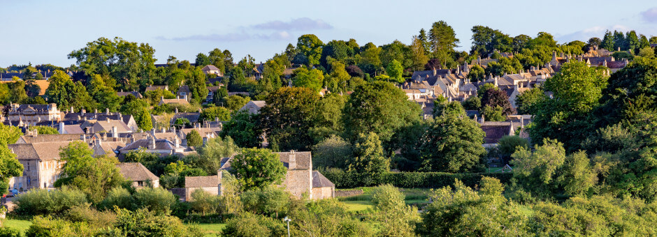 View of the historical town of Burford