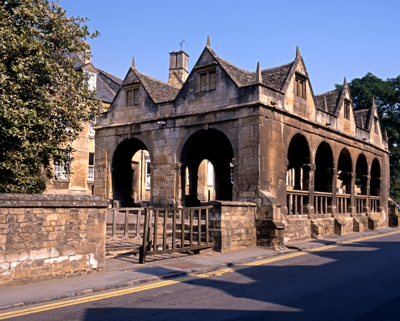 An image of the exterior of Chipping Campden Market Hall