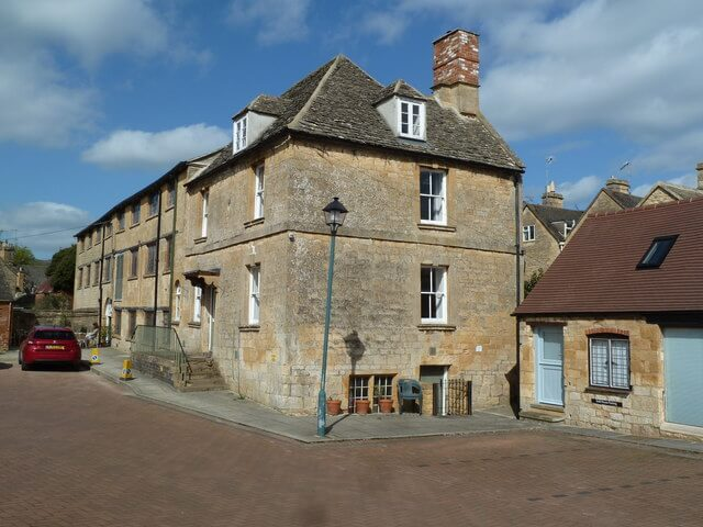 An image of the exterior of the Old Silk Mill, now a museum in Chipping Campden