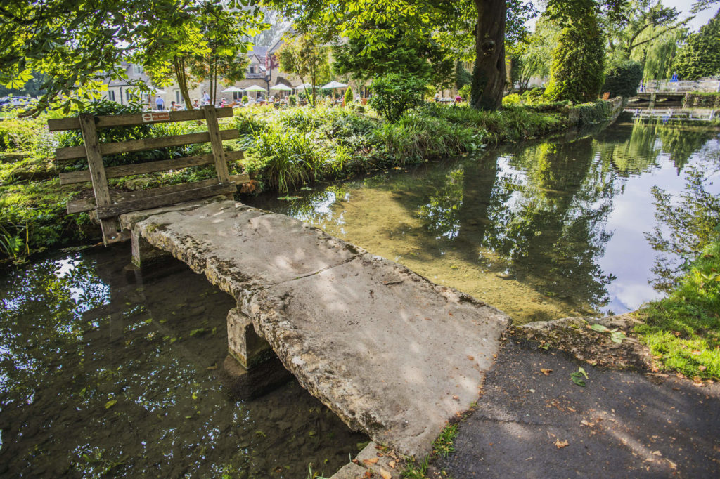 River in Lower Slaughter with Bridge