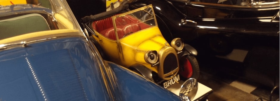 TV superstar Brum at The Cotswold Motoring Museum