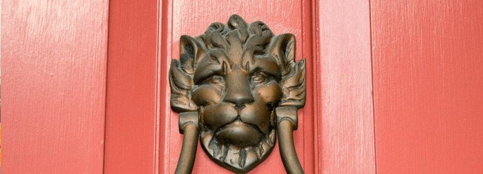 Interesting door knocker in Tetbury