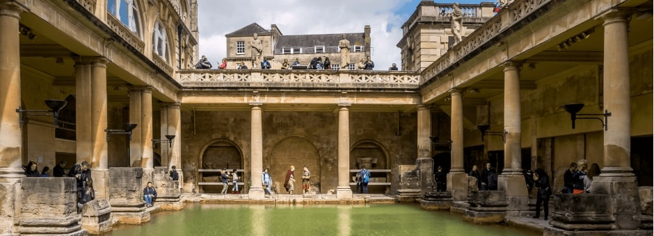 The impressive Roman Baths in Bath