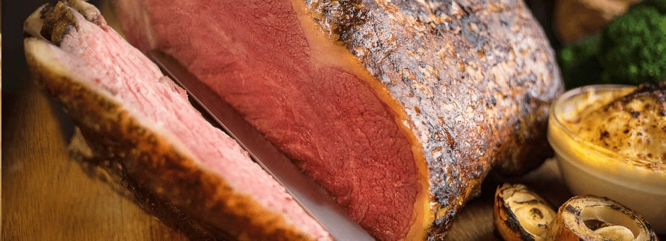 Delicious cut of roast beef