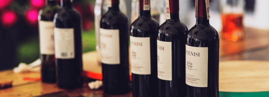 Fine wines in The Woolpack Slad