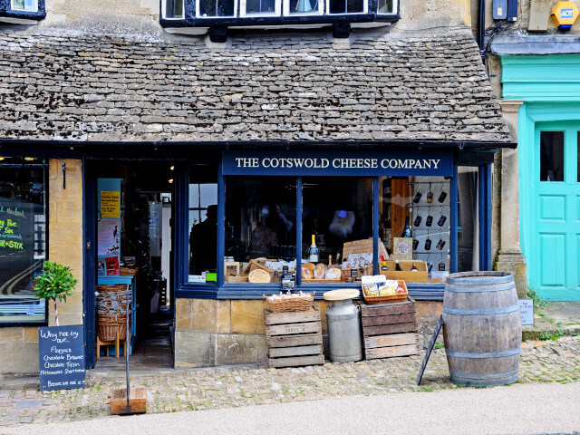 The Cotswold Cheese Company shop front in Burford