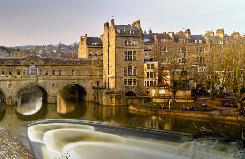 A photo of the River Avon and Pulteney Bridge in Bath