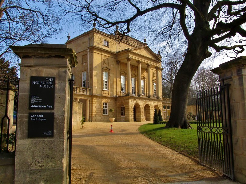 A photo from the driveway of the Holburne Museum in Bath