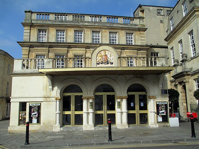 A Photo of the front entrance to Bath's Theatre Royal