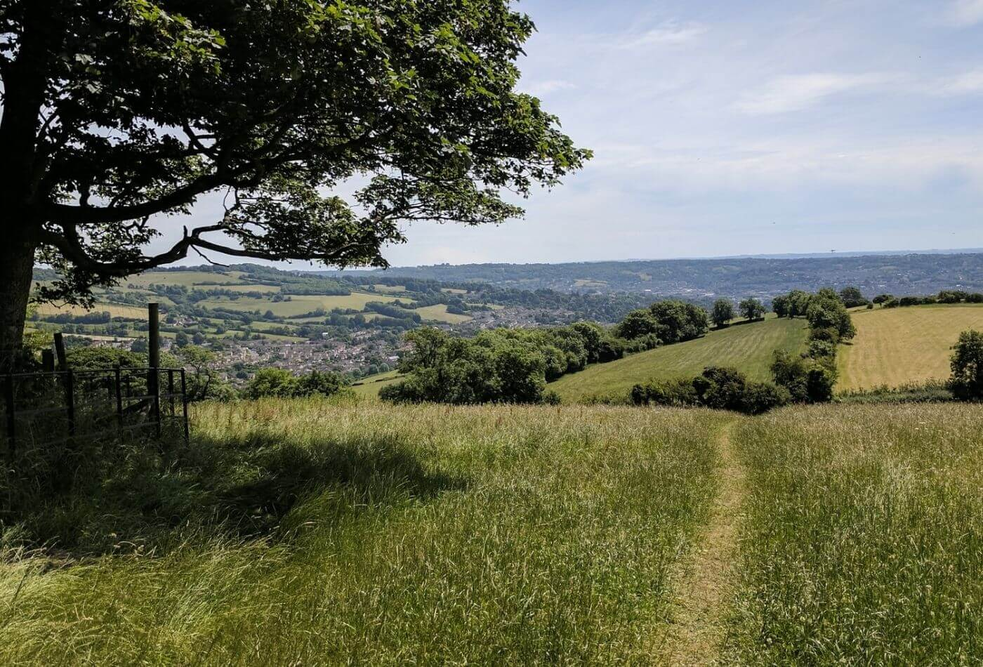 Cotswold Way Sign and Views