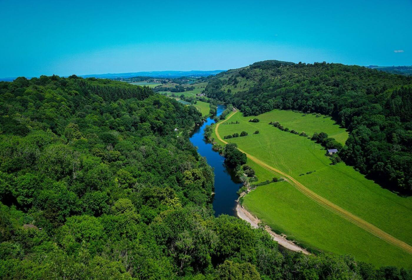 Arial views of the Forest of Dean and Wye Valley