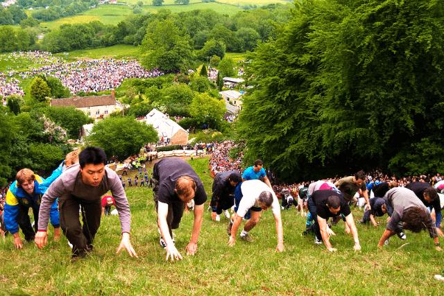Cooper's Hill Climbing Race