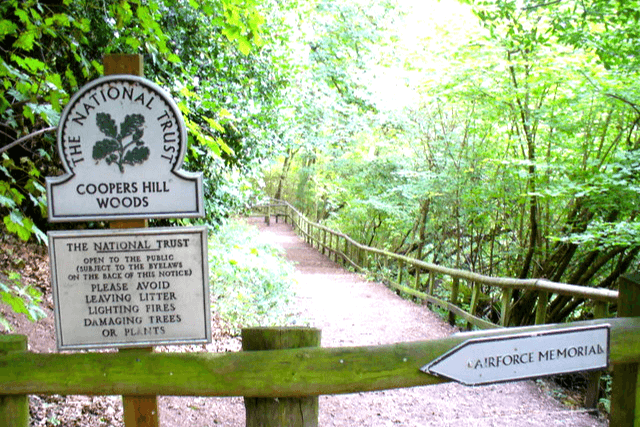 Cooper's Hill Sign - National Trust