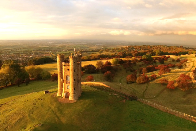 Broadway Tower Above